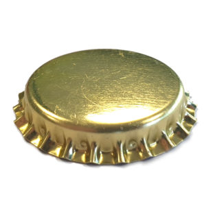 29mm Gold Sparkling Wine Crown with bidule