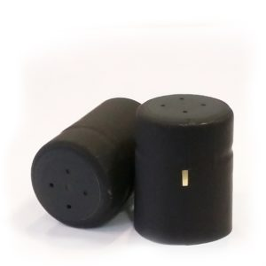 29mm x 38mm Matt Black PVC Shrink Caps