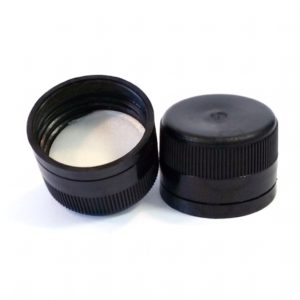 Black Plastic Cap 31.5 x 24mm