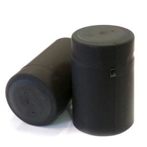 35x55 Matt Black PVC Shrink Cap