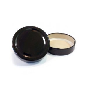Black Deep Jar Lid