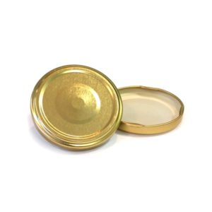 Gold Jar Lid with Popper
