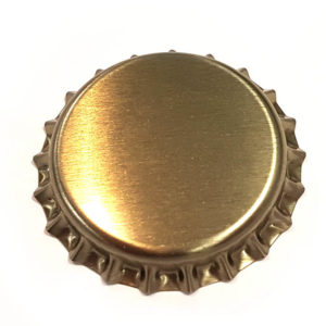 Matt Gold Beer Crown 26mm