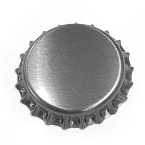 Matt Silver Beer Crown 26mm