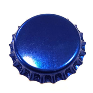 Metallic Blue Beer Crown 26mm