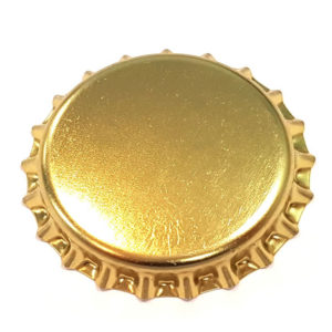 Metallic Gold Beer Crown 26mm