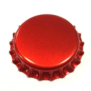 Metallic Red Beer Crown 26mm