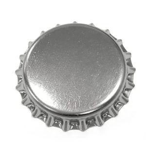 Metallic Silver Beer Crown 26mm