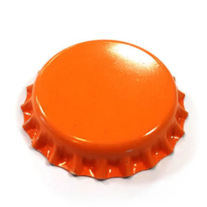 Orange 26mm Beer Crown
