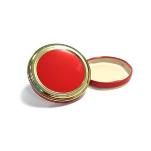 Red Gold Jar Lid