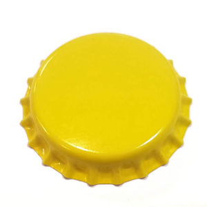 Yellow Beer Crown 26mm