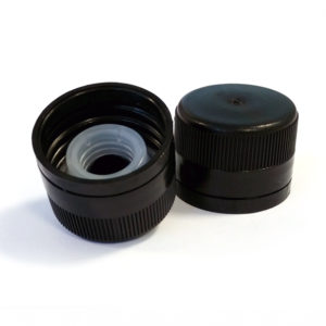 Black Plastic Cap with Pourer 31.5 x 24mm