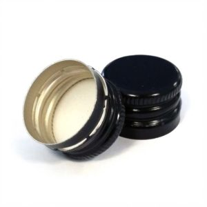 18 x 12 Pre-Threaded Black Screwcap