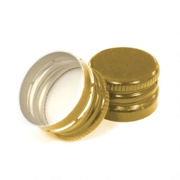 18 x 12 Pre-threaded Gold Screw Caps