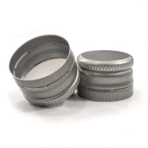 18 x 12 Pre-threaded Silver Screw Caps