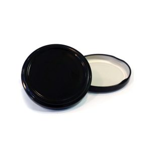 58mm Black Twist Off Jar Lid